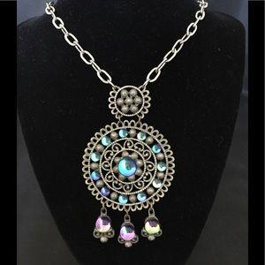 Vintage Aztec Style Marble Stone Necklace